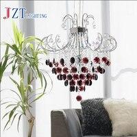 Z Modern Stainless Steel Purple Crystal Light Restaurant Luxury 6 Head Dia40 50 60cm Transparent Pendant