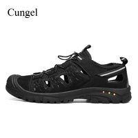 Cungel Men Outdoor Hiking shoes Spring/Summer Breathable Soft Sandals Mountain Climbing shoes Trekking Non slip Walking shoes