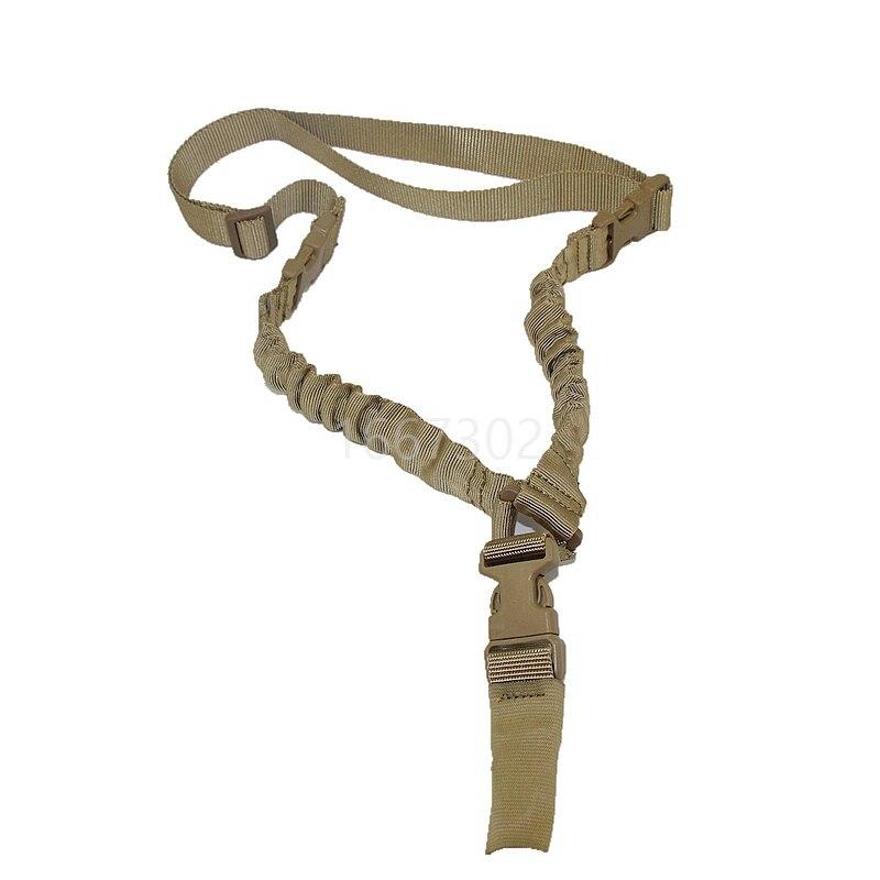 Arma de La Caza al aire libre Single Point Bungee Rifle Sling System Correa de D
