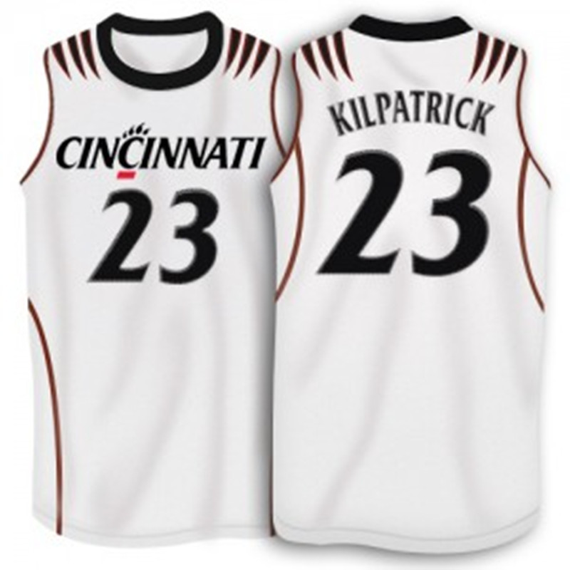 official photos a421e 189bf Sean Kilpatrick Cincinnati Bearcats Jersey Black White Retro ...