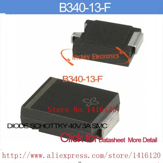 B340 DIODE SCHOTTKY 40V 3A SMC B340-13 DIODES INC