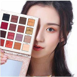 Image 5 - IMAGIC модные тени для век Палитра 16 цветов матовые тени для век Палитра стойкий макияж телесный косметический набор для макияжа отправка кисти