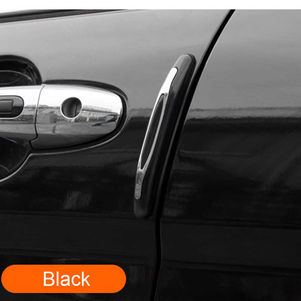 4 قطعة قوالب التصميم أسود أبيض رمادي باب السيارة حافة الحرس واقي مصد السيارة تقليم الحرس ملصق صب للسيارات السيارات