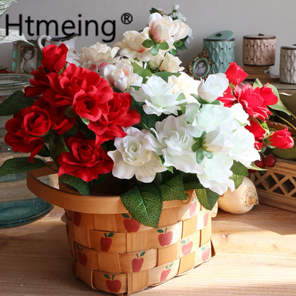 artificial gardenia flower plants jasmine flowers camellia silk