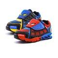 Crianças sapatos da moda sneaker spiderman estilo respirável sapatos de desporto para 3-14yrs crianças Primavera meninos meninas causal sapatos ao ar livre