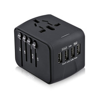 LONGET Travel Adapter International Universal Power Adapter All In One With 3 4A 4 USB Worldwide