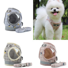 New No Pull Dog Harness Breathable Mesh Vest Adjustable and Leash Set for Small Dogs Reflective Pet Collar Puppy