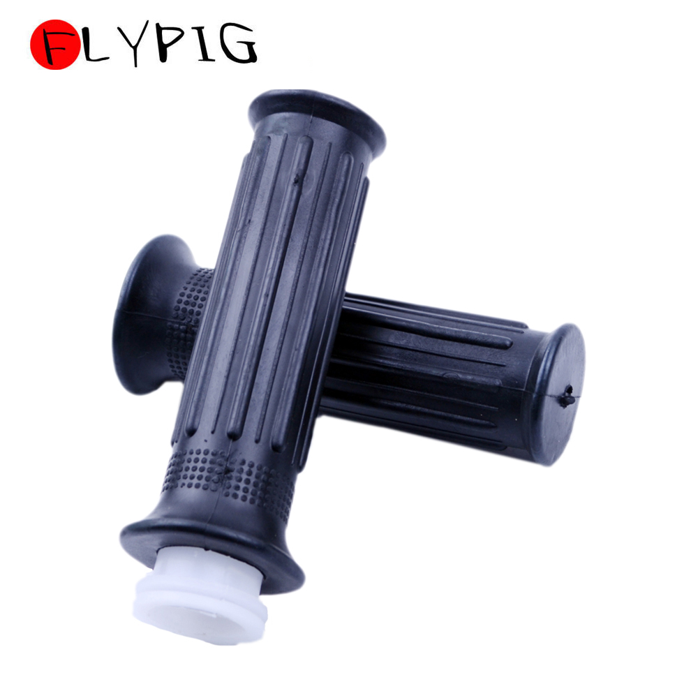 FLYPIG New Durable Throttle Grips W/ Tube Sleeve For Yamaha PW 80 PW80 DT100 DT125 MX100 Motorcycle Dirt Bike Rubber Hand Grips
