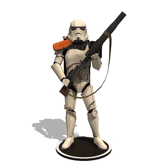 Star Wars 3D paper model DIY sand soldiers puzzle toy figure origami paper art hand to do