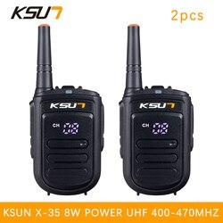 2 PCS BUXUN X-35TFSI Walkie Talkie 8W Handheld Pofung UHF 8W 400-470MHz 128CH Two way Portable CB Radio