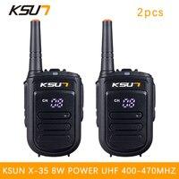2 PCS BUXUN X 35TFSI Walkie Talkie 8W Handheld Pofung UHF 8W 400 470MHz 128CH Two