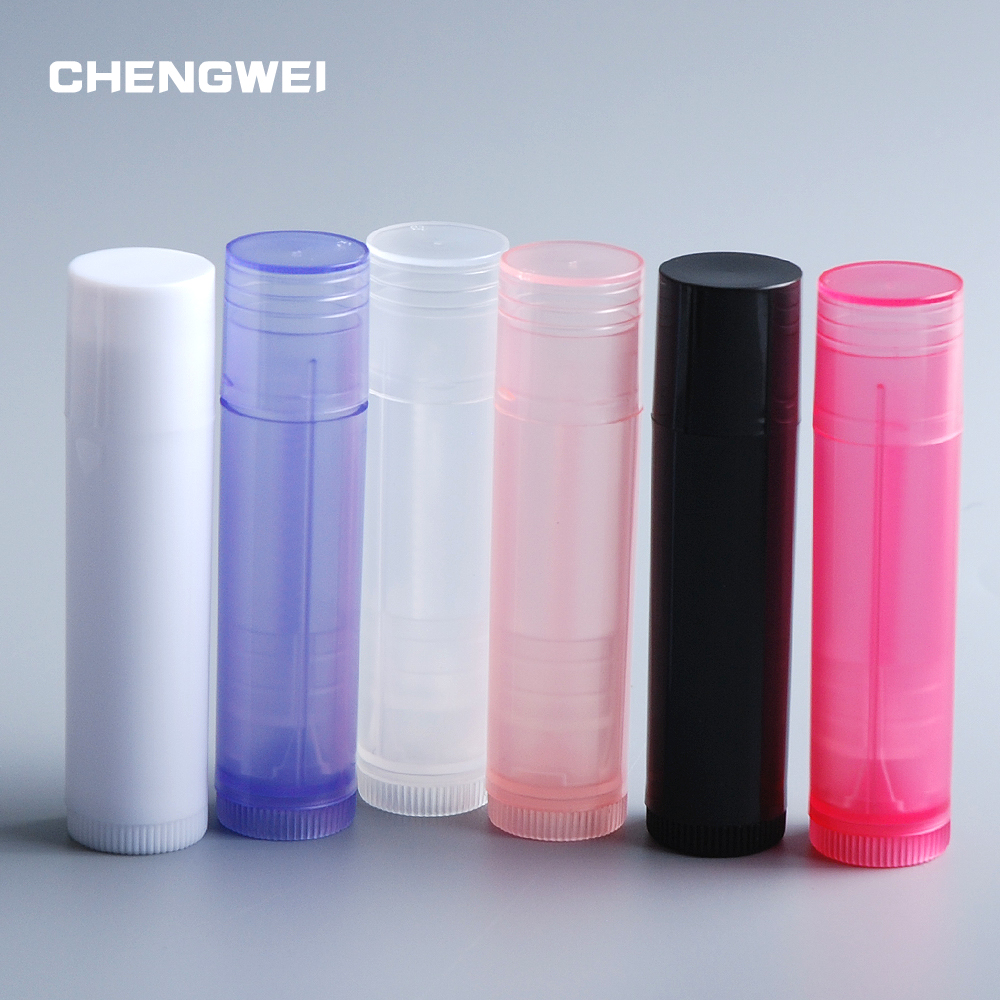 CHENGWEI 5 ML Empty Lipstick Bottle DIY Plastic Cosmetic Container Chapstick Lip Gloss Tube + Caps Portable Makeup Tool 10 Pcs 100pcs professional cosmetic diy empty chapstick lip gloss lipstick balm tube with caps container lip me88
