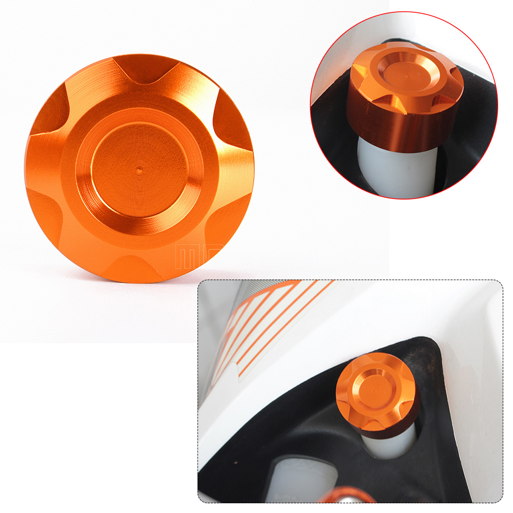 for KTM DUKE 125 200 390 CNC Motorcycle accessories parts Rear Brake master cylinder fluid Reservoir Cover Cap for ktm logo 125 200 390 690 duke rc 200 390 motorcycle accessories cnc engine oil filter cover cap