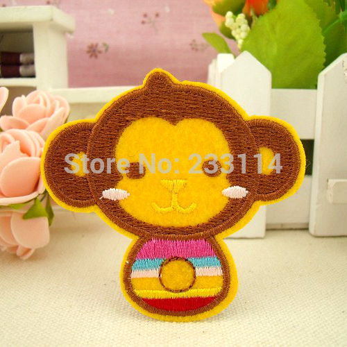 Foreign trade clothes patch cloth embroidered patches of children clothing  sticking DIY cloth paste small monkey