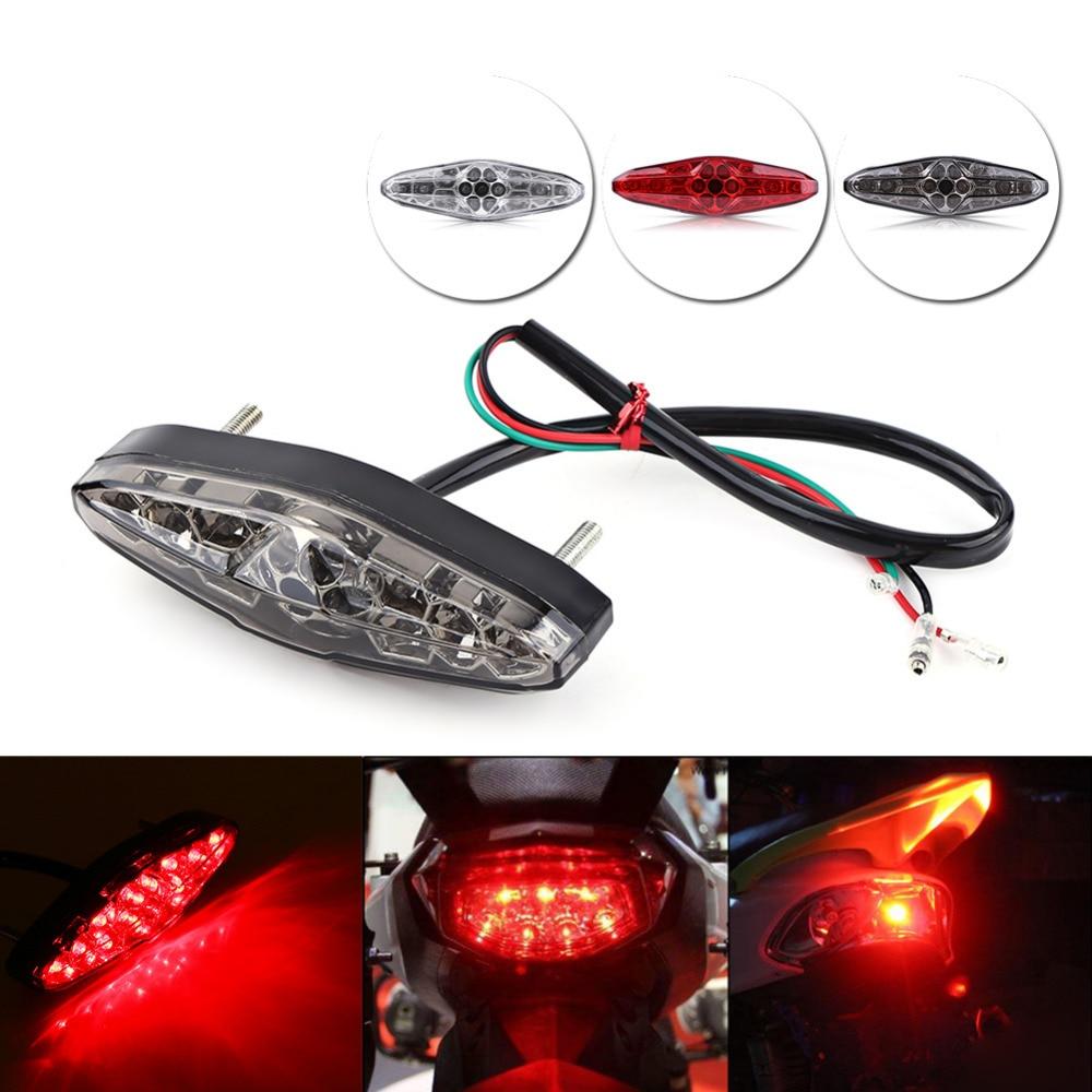 12V 15 LED Motorcycle Brake Stop Running Tail Light Rear Light ATV Dirt Bike Universal Motocicleta Lights