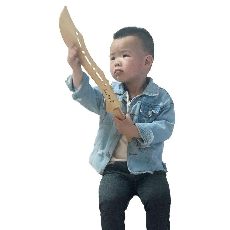 Segurança brinquedos de madeira para crianças espada tulong armas de madeira artes marciais faca adereços lâmina de brinquedo fechado faca das crianças