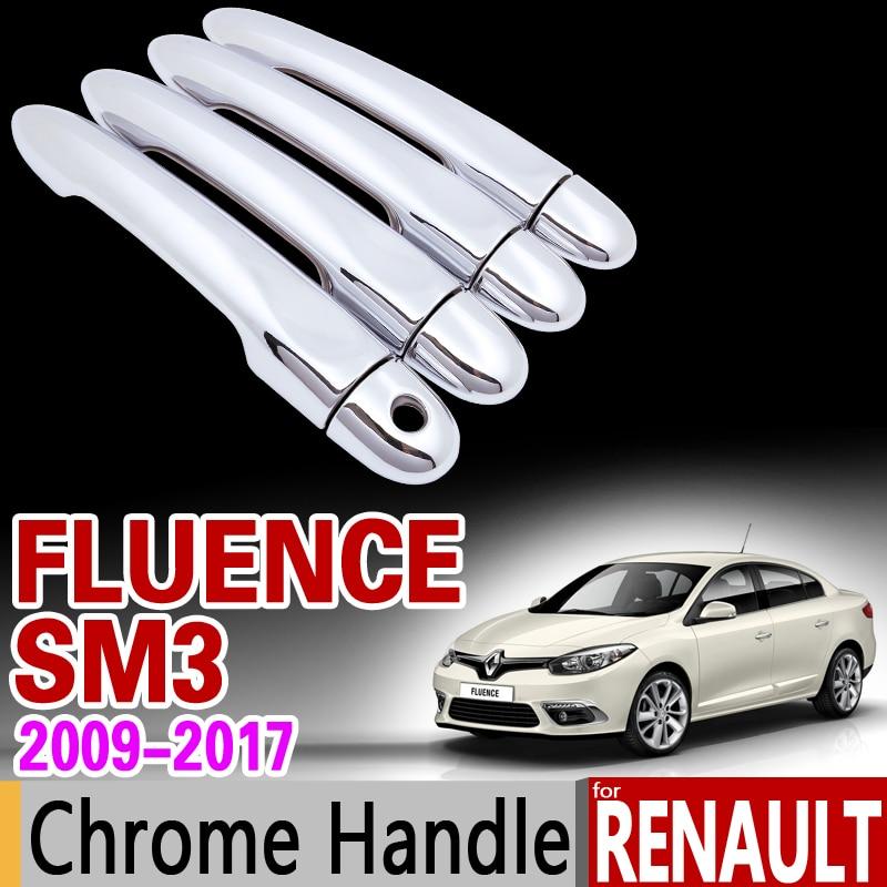 купить for Renault Fluence SM3 2009 - 2017 Chrome Handle Cover Trim Set 2010 2011 2012 2013 2014 2015 Accessories Stickers Car Styling по цене 910.58 рублей