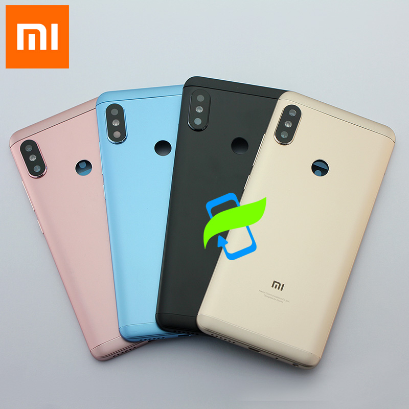 Original Battery Back Cover For Xiaomi Redmi Note5 Back Housing Rear Door Case Redmi Note 5 pro Power Volume Buttons+Camera Lens