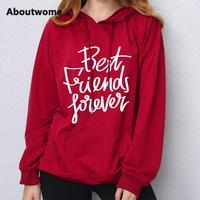 Forever Friends hoodie womens sweatshirts Original Design sweatshirt Letter Printing hooded Long Sleeve Leisure hoodie coat