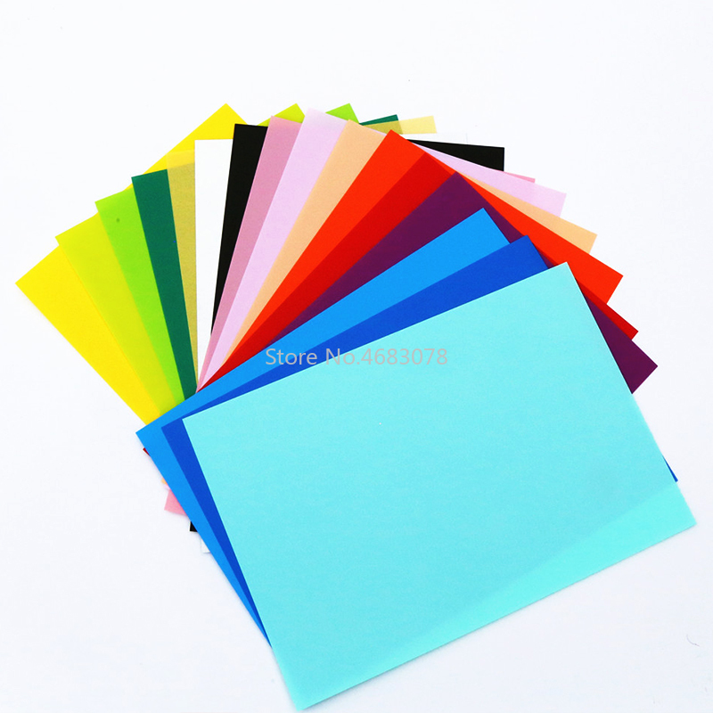 10Pcs A4 Size Multicolor Shrinks Film Plastic Sheet DIY Resin Decorating Unprintable Films Toys Craft Material 0.3mm Thickness