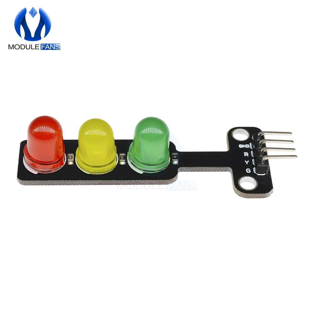5PCS Mini 5mm LED 5V Traffic Light LED Display Module for Arduino Mini-Traffic Light for Traffic Light System Model