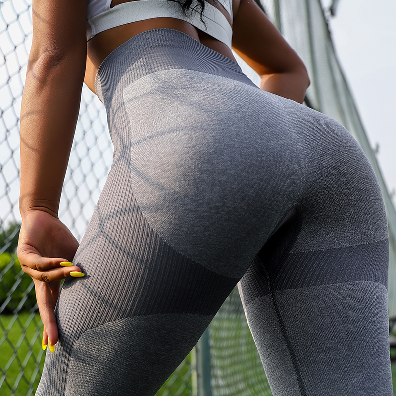 Fashion Women High Waist Fitness Leggings Seamless Feamle Legging For Women Sexy Push Up Legging Elastic Women Pants 3Color