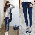2016 мода тощий женщины карандаш брюки высокой талии сексуальные тонкие полная длина женские джинсы 078