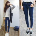 2016 fashion skinny women pencil pants high waist sexy thin full length women jeans 078