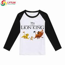 afa2d5cf7573c LYTLM Lion roi chemise mode coréenne vêtements 2018 automne garçon t-shirts  pour enfants dessin animé garçons t-shirt Vetement .