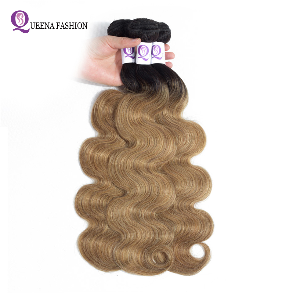 Ombre Hair Bundles Body Wave Brazilian Hair Weave Bundles 1b/27 1b/30 1b/burgundy Three Colors Non Remy Can Buy 3 or 4 Bundles