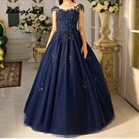 Navy Blue Quinceanera Dresses Party Ball Gown Long Tulle Sweet 16 Princess Prom Dress Gown for 15 Years vestido de 15 anos