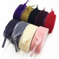¡Caliente! Cordones de zapatos informales deportivos de cuero para hombre y mujer, cordones de terciopelo de 120 cm de longitud, 1,6 cm de ancho, informales, de colores, negro, blanco y azul