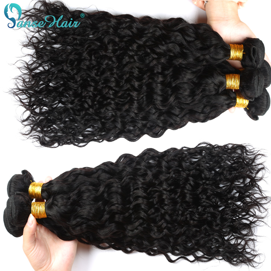 Panse Hair 100 Mongolian Human Hair Weaving Water Wave Hair