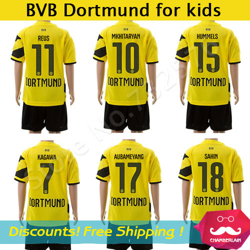 sports shoes e82c5 1385d Borussia Dortmund Kids Jersey REUS HUMMELS GUNDOGAN Football ...