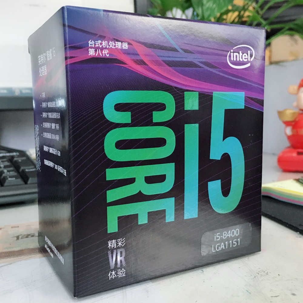 Intel Core i5 8 series Processor I5 8400 I5-8400 Boxed processor CPU LGA 1151-land FC-LGA 14 nanometers Six Core цена