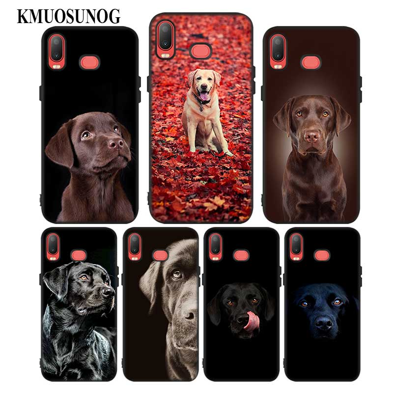 For Samsung A6S A8S A6 A7 A8 A9 A5 A3 Star Plus 2018 2017 2016 Black Silicon Phone Case Labrador Retriever Style in Fitted Cases from Cellphones Telecommunications