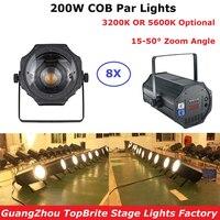8 Pack Warm / Pure White COB 200W LED Par Light Outdoor Zoom Par Can Zoom Led Par Light For Christmas Party Wedding Dj Discos