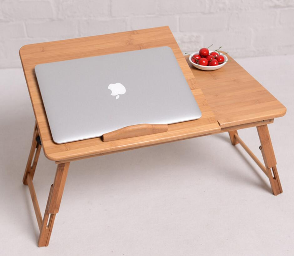 1PC Hot Sale High Quality Folding Laptop table 50*30CM Bamboo computer desk Lap table has a drawer W13D201PC Hot Sale High Quality Folding Laptop table 50*30CM Bamboo computer desk Lap table has a drawer W13D20