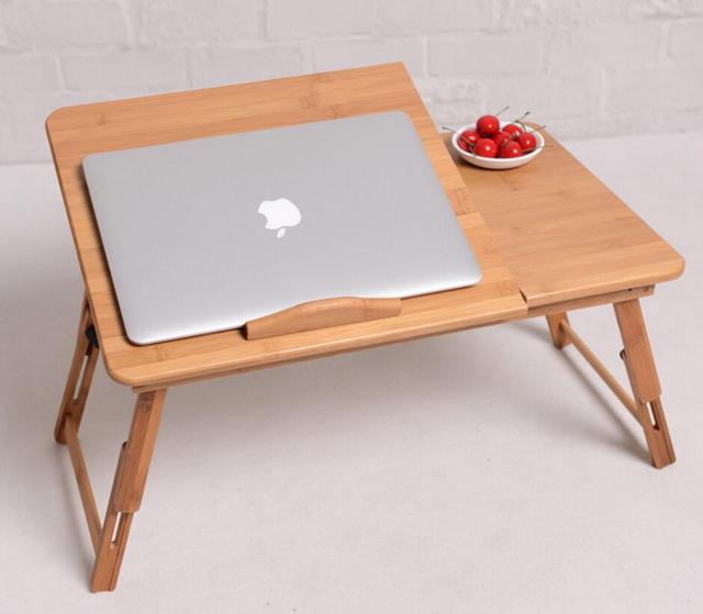 1pc Hot High Quality Folding Laptop Table 50 30cm Bamboo Computer Desk Lap