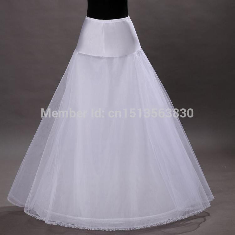 2017 Long A-Line White Underskirt Saiote de noiva Hot Sale 3 Hoop For Wedding Dress Wedding Skirt Accessories L1105