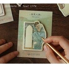24 pcs/Lot Classcial memo pad Poetical and decorative diary sticker Nota de papel Stationery Office supplies FM121