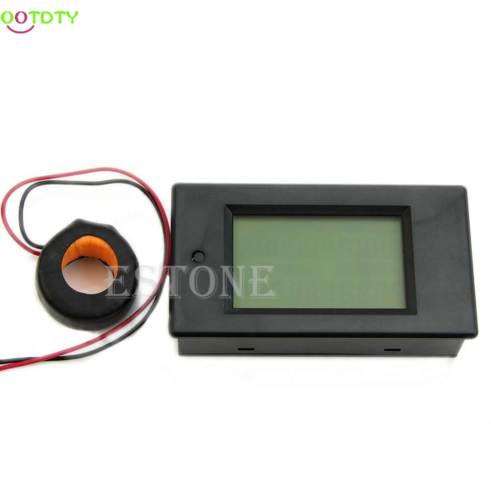 AC 80-260V LCD Digital 100A Volt Watt Power Meter Ammeter Voltmeter 110V 220V 828 Promotion ...