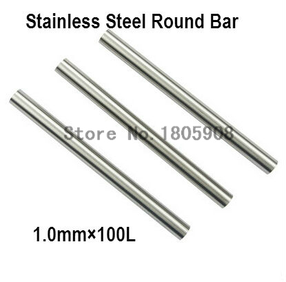 20pcs 1.0*100mm High Speed <font><b>Steel</b></font> HSS Round Tool Bits New With silver <font><b>steel</b></font> 45 # <font><b>steel</b></font> polished <font><b>rod</b></font> of round bar cylindrical pin image
