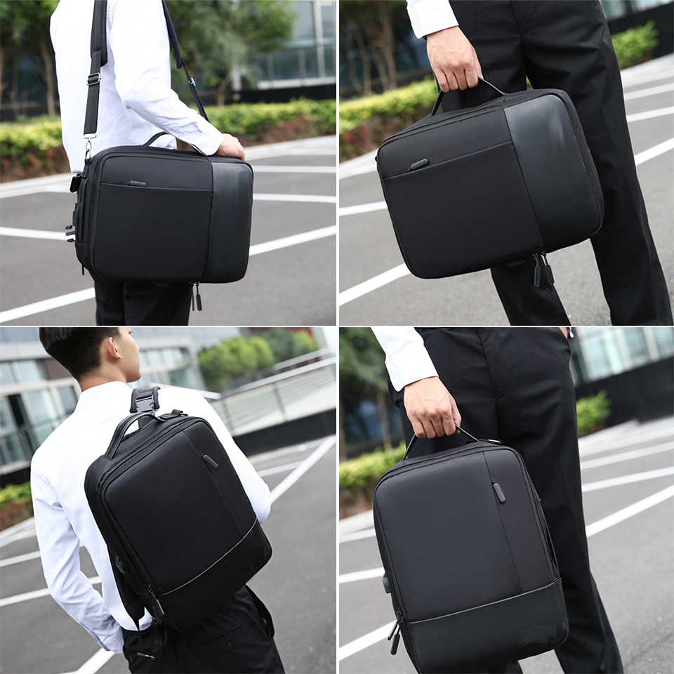 Image 2 - Business Backpack Men Laptop Backpacks 15.6 Inch Waterproof Male 
