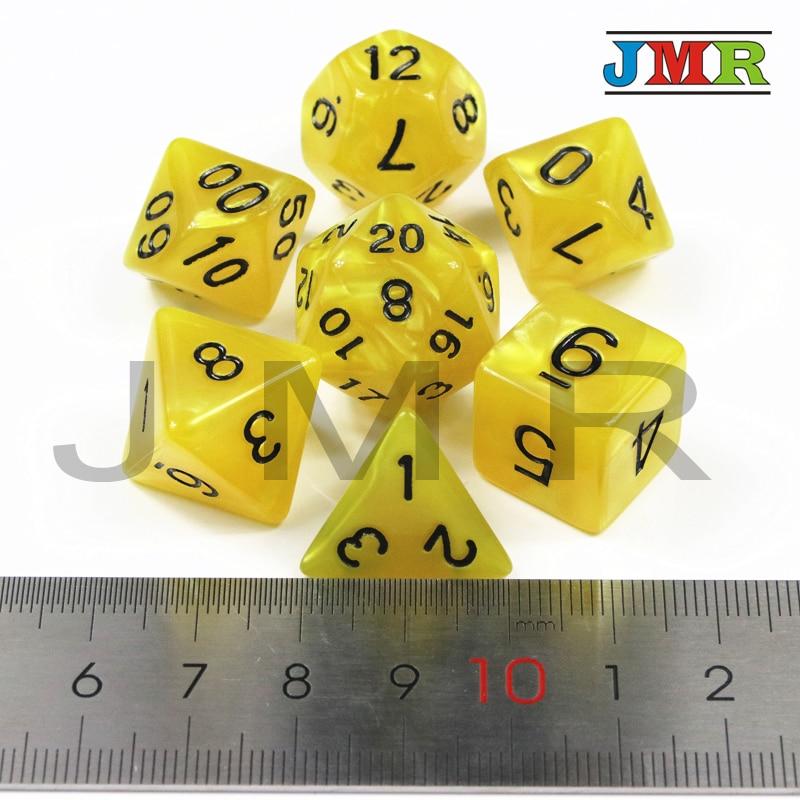 Фирменная Новинка 7PCS-die перламутровые кости набор D4, d6, d8, d10, d %, d12, d20 игровые кости, многогранный решающей Die RPG для вечеринок как игрушки