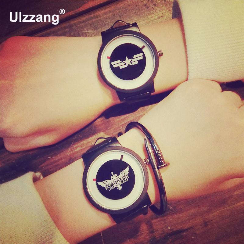 2017 Fashion LOL Star Marvel's The Avengers Superman Music PU Leather Quartz Wristwatches Wrist Watch for Men Women Black