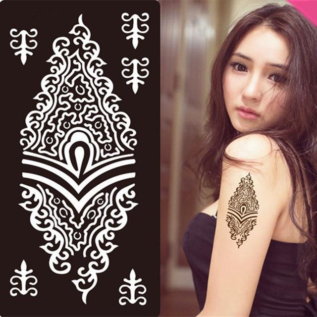 47 Neue Designs Henna Aufkleber Tattoo Body Art Mehndi Schablonen ...