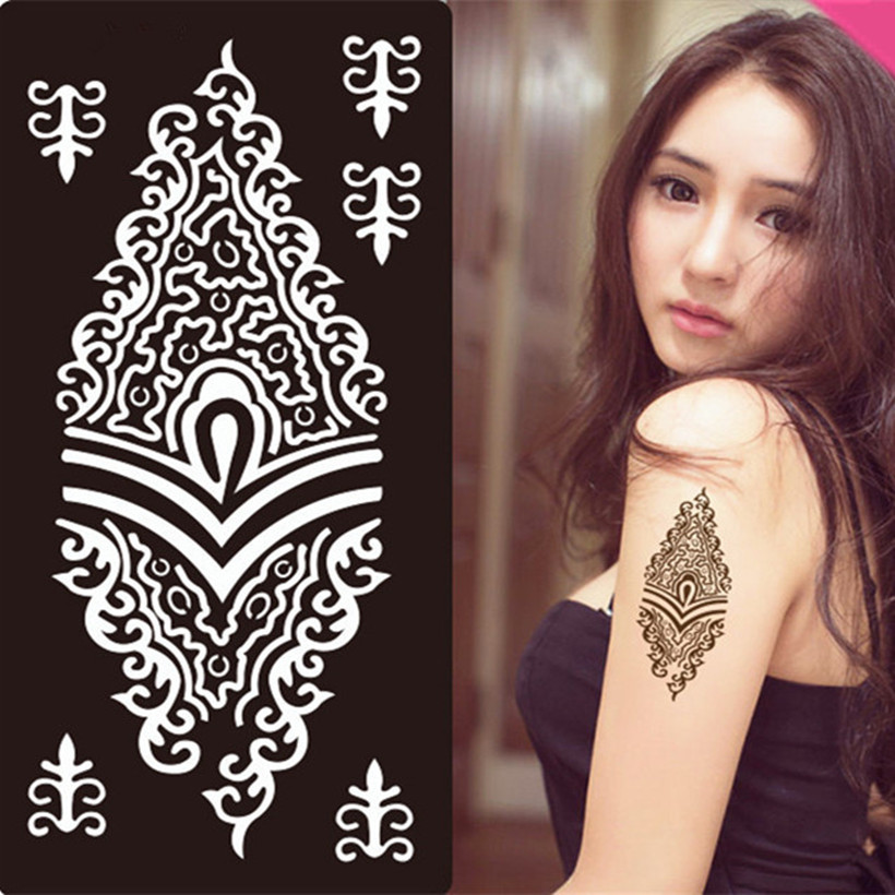 47 New Designs Henna Stickers Tattoo Body Art Mehndi Stencils Templates India Hand Feet Leg Wedding Stencil In From Beauty Health On