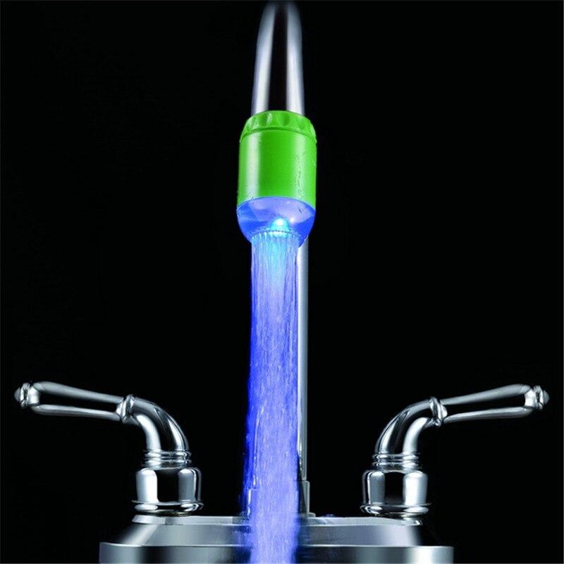 Один голубой цвет света воды Glow кран света для personalized gifts с адаптерами с блистерная упаковка