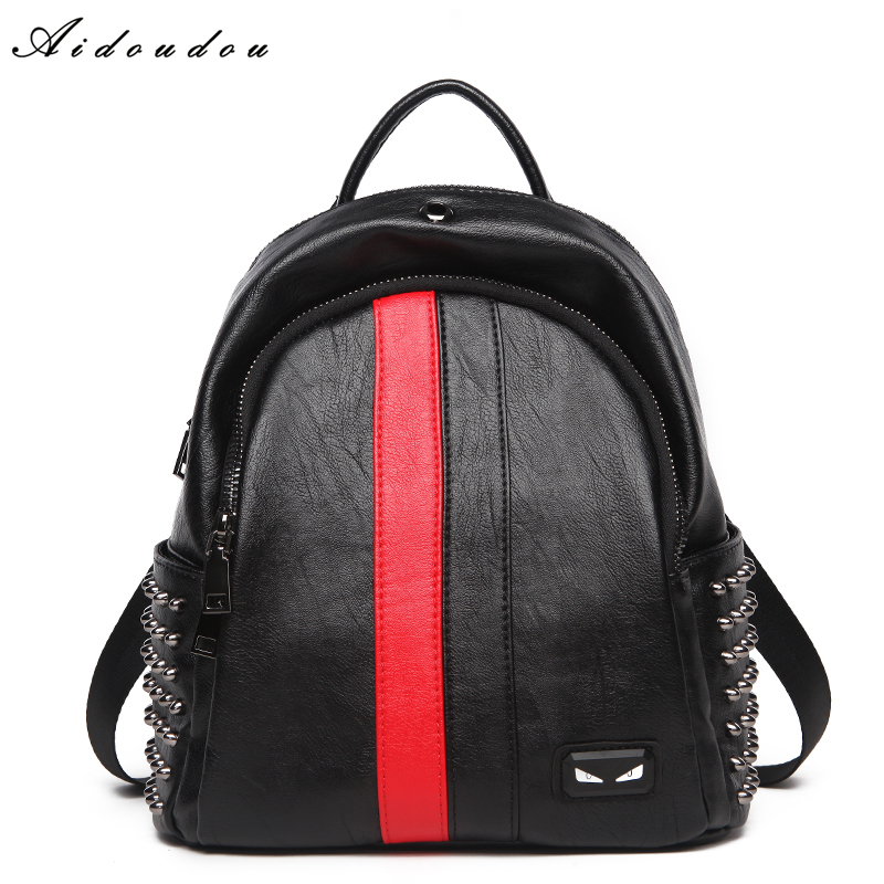 AIDOUDOU Brand Backpacks Fashion Ladies Shoulder Bags Preppy Style Schoolbags For Teenagers Travel 2017 New Mochila